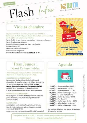 Couverture Flash infos Octobe 2021